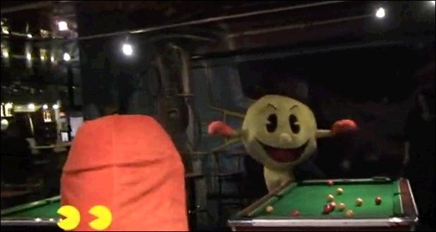 Quelle petite boule blanche Pacman ne va-t-il manger dans la vidéo ?