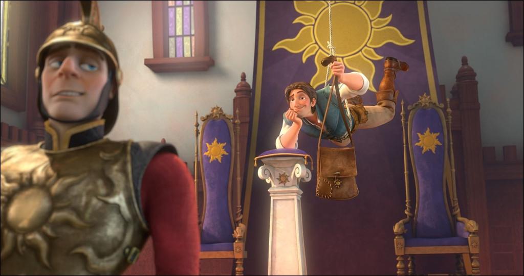 Lorsque Flynn vole la couronne au palais, que dit-il au garde qui éternue ?