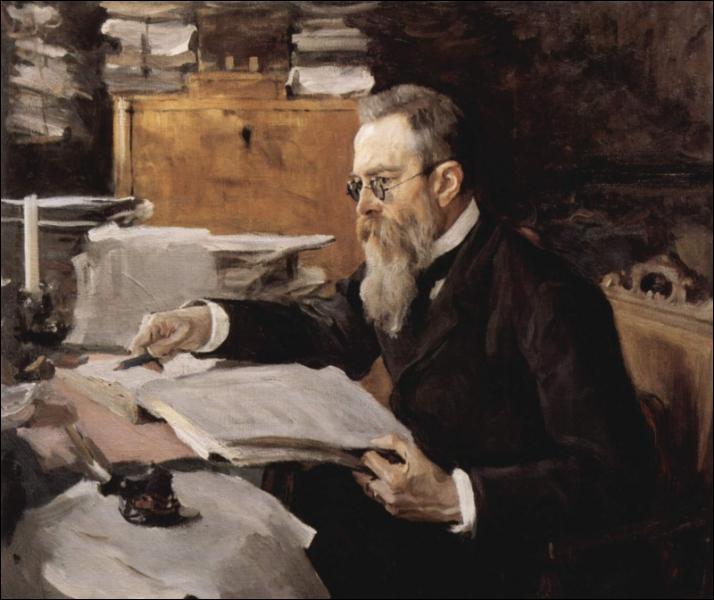 Compositeur russe (1844-1908), co-fondateur du Groupe des Cinq, il composa Shéhérazade, Capriccio Espagnol, La Grande Pâque russe. .