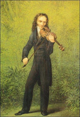 Compositeur italien et  le plus grand violoniste jamais connu  (1782-1840), il a inventé les techniques modernes du violon et influencé tous les compositeurs pour violon après lui.