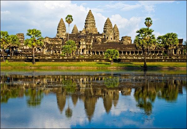Le temple d'Angkor Vat figure sur le drapeau du Cambodge. Nous devons ce fabuleux édifice à la civilisation...