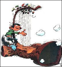 Gaston a aussi un côté mélomane. Comment s'appelle cette invention très bruyante ?