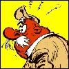 Quand Gaston va tester son instrument de musique (question 13) à la campagne, il fait tourner le lait des vaches de ce fermier. Quel est son nom ?