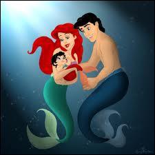 Comment s'appelle la fille et le mari de Ariel la petite sirène ?