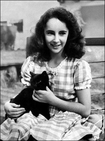 La voici encore très jeune, cette amie des animaux, avec un petit chat sur les genoux ! Qui est-elle ?