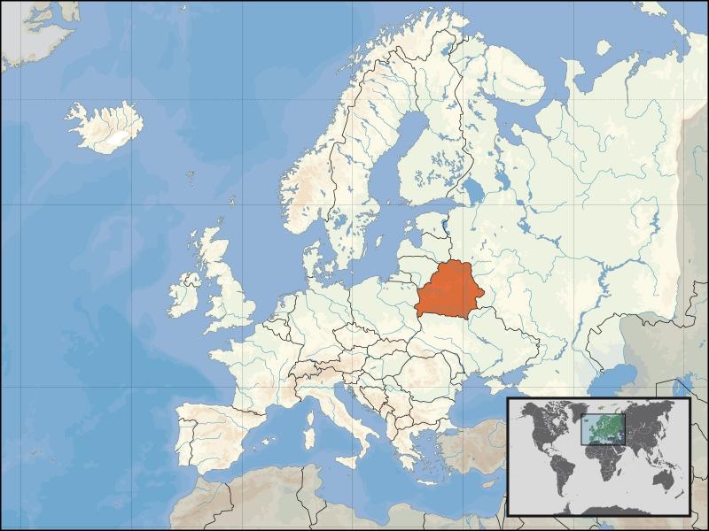 A côté de quels pays est située la Biélorussie ?