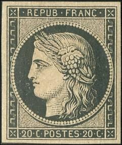 En quelle année fut apparu le premier timbre français ?