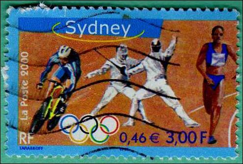 Thèmes avec les J. O : Le timbre représenté ci-dessus est un timbre :