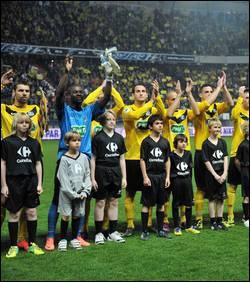 Quel club a perdu la finale de la Coupe de France de football face à l'Olympique Lyonnais le 28 avril 2012 ?