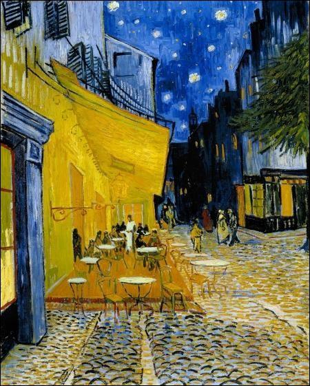 Qui a peint  Terrasse de café le soir  ?