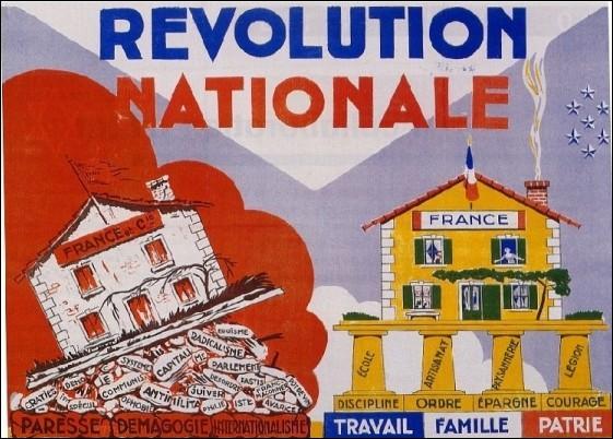 D'après cette affiche, qui n'est pas accusé d'être responsable de l'effondrement de la France