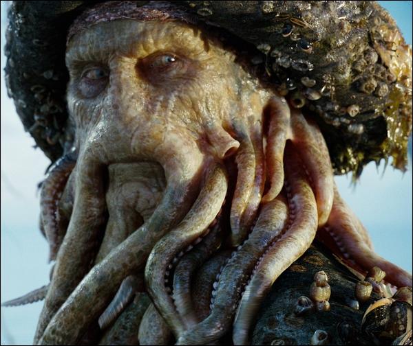 Quel est le nom du comédien qui se cache sous les tentacules de Davy Jones ?