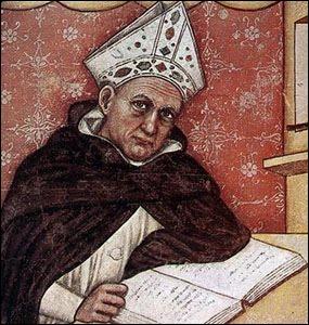 Au 13ème siècle, la place Maubert était un lieu d'études : un savant dominicain donnait des cours et commentait la physique d'Aristote. Il s'agissait de :