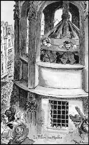 Rue Pirouette le grand pilori du roi était installé, punissant les peines criminelles. En 1347, Philippe VI en réglementa l'usage. En combien de temps la roue faisait-elle 1 tour complet ?