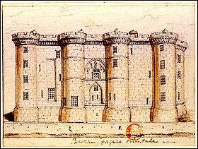 La construction de la Bastille fut décidée sous le règne du roi Charles V. La première pierre fut posée vers 1367. Elle devait assurer la défense de Paris contre les :
