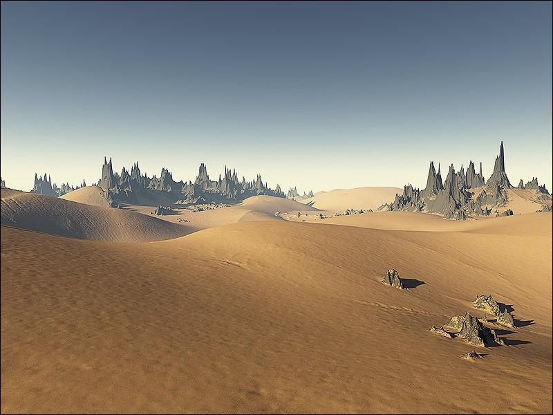 Dans quel pays se situe ce paysage qu'on dirait d'une autre planète ?