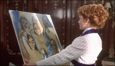 Quand Rose s'installe dans sa chambre, elle accroche une peinture sur le mur. Mais qui est-ce qui l'a peinte ?