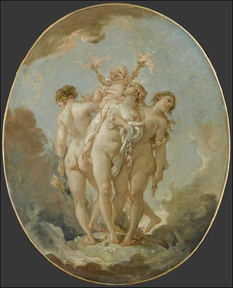 Les Trois Grâces supportant l'Amour, c. 1765