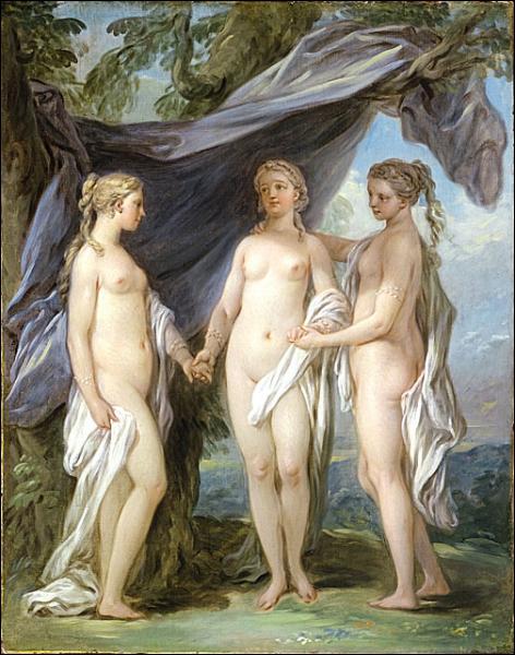 Les trois grâces, 1733