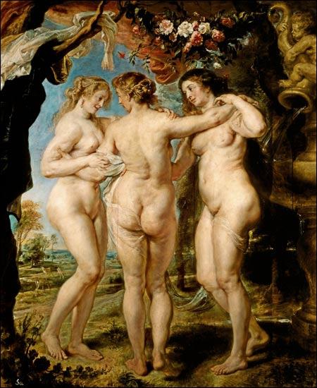 Les Trois Grâces, c. 1639