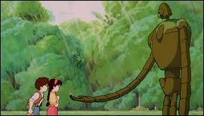 Et dans quel film apparaissent ce géant en métal et ces deux personnages ?
