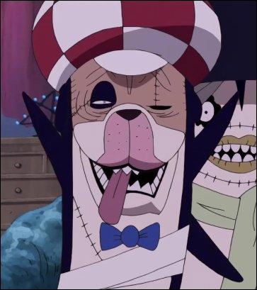Comment Usopp appelle-t-il le zombie qui a l'ombre de Sandy ?