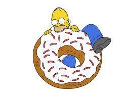 Homer Simpson et les donuts