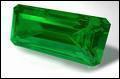Une pierre d'un vert éclatant, c'est :
