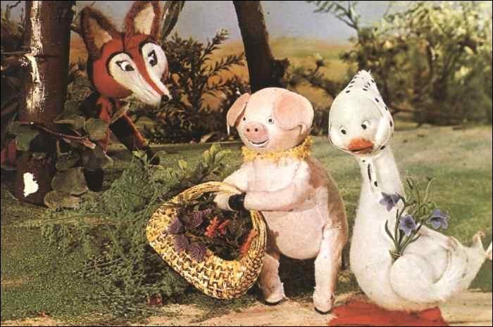 Cette série d'animation française mettait en scène des animaux vivant dans une ferme. Il y avait le coq Agenor, la truie Aglaé et l'oie...