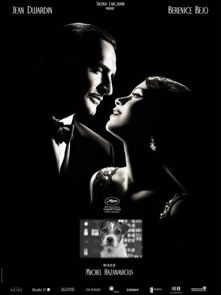 Hollywood 1927. George Valentin est une vedette du cinéma muet à qui tout sourit... . Film français, muet et en noir et blanc de Michel Hazanavicius de 2011 avec Jean Dujardin et Bérénice Béjo