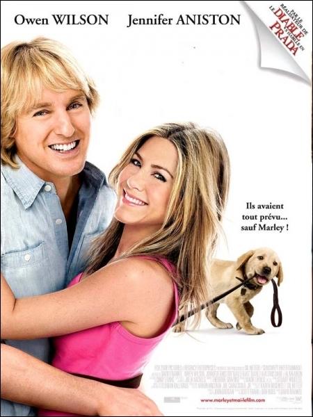 Jeunes mariés, John et Jenny viennent de s'installer en Floride ... . Film américain réalisé par David Frankel en 2008 avec Owen Wilson et Jennifer Aniston