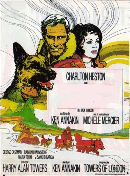 Adaptation du roman de Jack London, réalisé par Ken Annakin en 1972 avec Charlton Heston et Michèle Mercier ... .