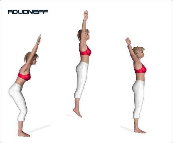 Lequel de ces trois muscles participe à l'action d'un  saut en extension  ?