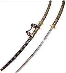 Les armes japonaises sont aussi des symboles de hiérarchie. Le port de deux sabres (ou daisho, un long (le katana) un court (le wakizashi)) était réservé ainsi ?
