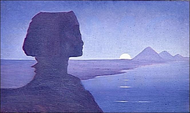 Paysage avec le Sphinx, 1900