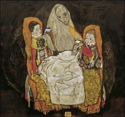 La Mère avec ses deux Enfants, 1915-1917