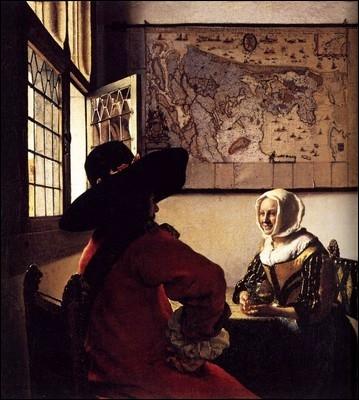 Officier et femme riant, 1657