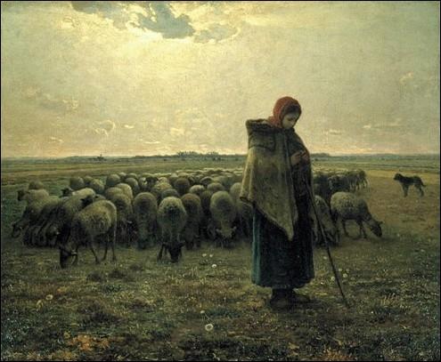 Bergère avec son troupeau, 1863