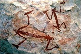 L'Art aborigène est spiritualité avant tout. Parmi les représentations traditionnelles, il y a les  mimis , esprits lumineux protégeant la nature. Outre le fait qu'un mimi peut ouvrir un rocher...