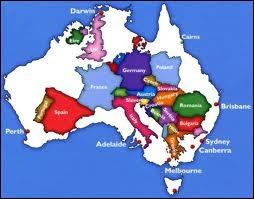 L'Australie le continent c'est 14 fois la superficie de la France, et seulement 22, 6 millions d'habitants, lesquels vivent en quasi-totalité... ?