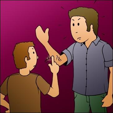 La loi ___________ donner une gifle dans le but de faire mal.