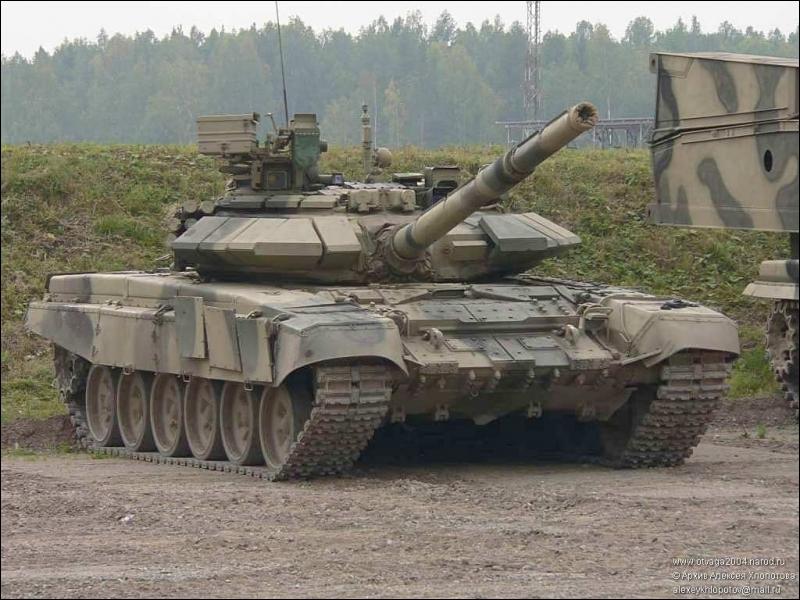 Ce char est le modèle de fabrication russe le plus moderne :