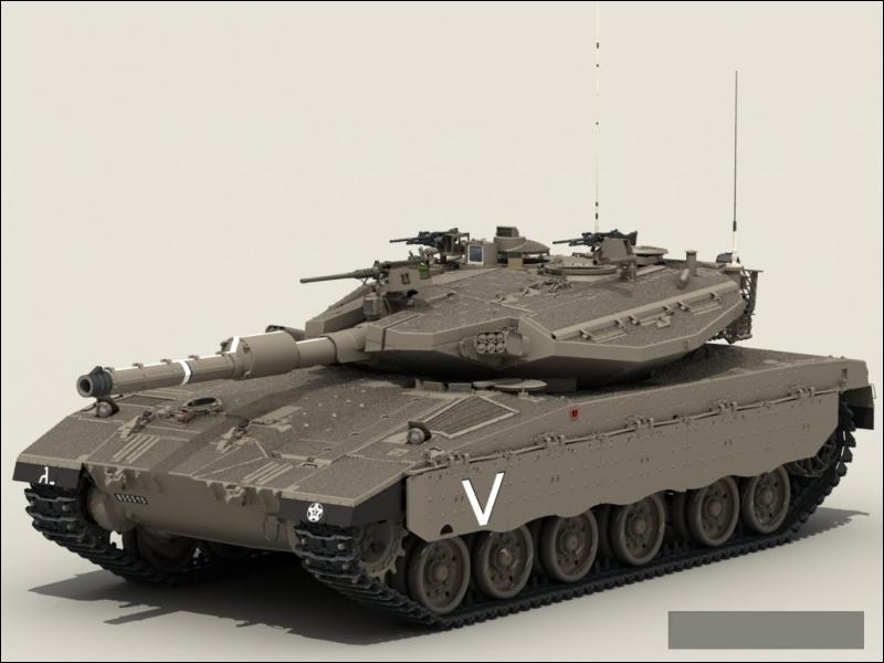Ce char israélien très célèbre, est réputé pour être particulièrement bien blindé :