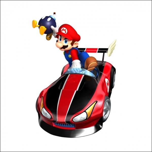 Quel objet Mario s'apprête-t-il à lancer ?