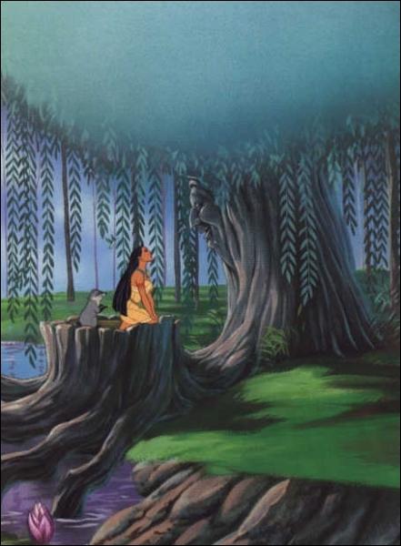 Comment se nomme  l'arbre Grand-mère  de Pocahontas ?