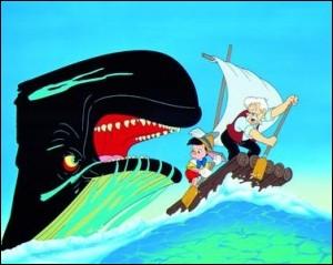 Quel est le nom de la baleine dans 'Pinocchio' ?