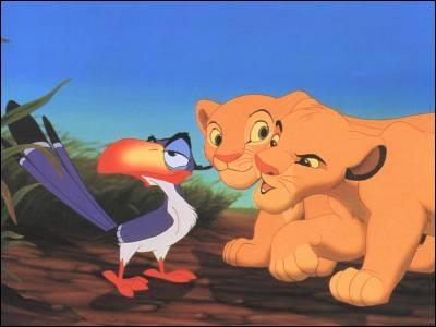 Quel est le nom du toucan précepteur dans 'Le Roi Lion' ?