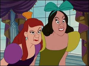 Comment s'appelle les deux  soeurs  de Cendrillon ?