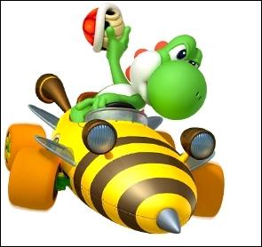 Quel objet Yoshi s'apprête-il à lancer ?