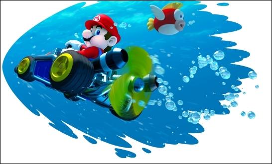 Quel va être le désavantage de Mario dans l'eau ?